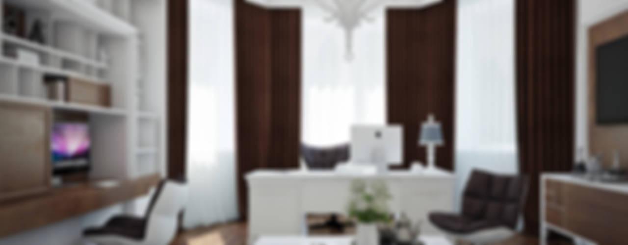 Рабочие кабинеты в . Автор – DA-Design,
