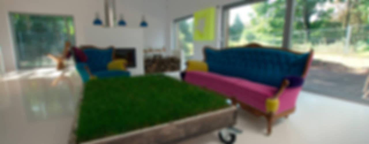 Dom pod Poznaniem Nowoczesny salon od Neostudio Architekci Nowoczesny