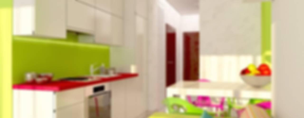 Яркая квартира в Сочи: Кухни в . Автор – Универсальная история
