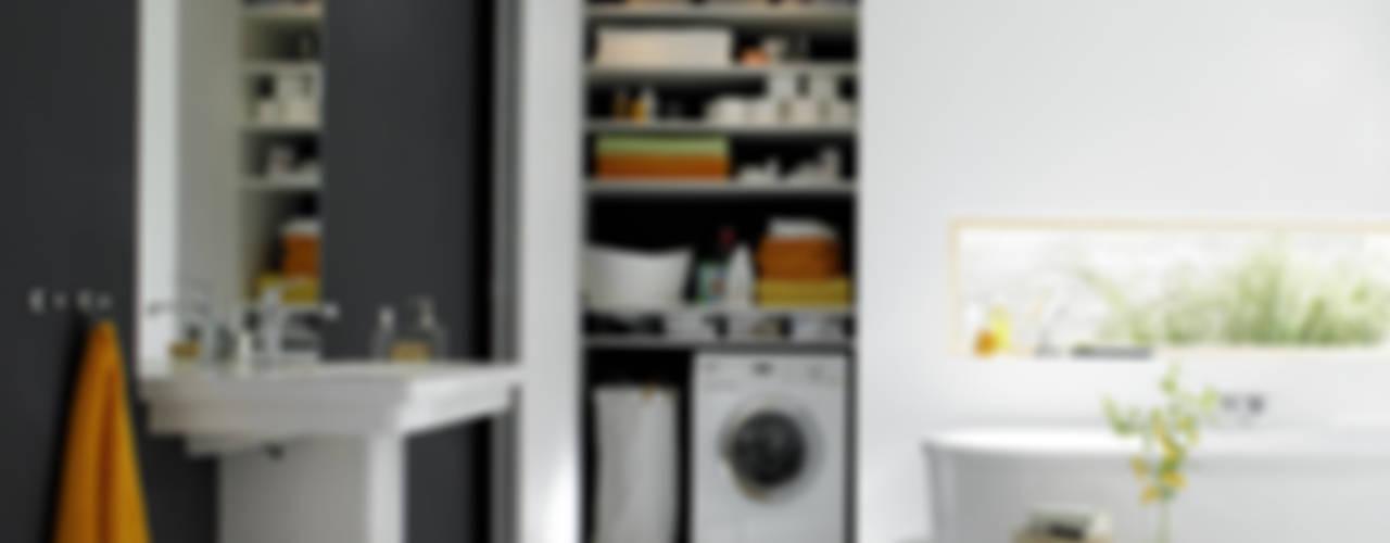 Berühmt 6 geniale Ideen, um die Waschmaschine im Bad zu verstecken DO45