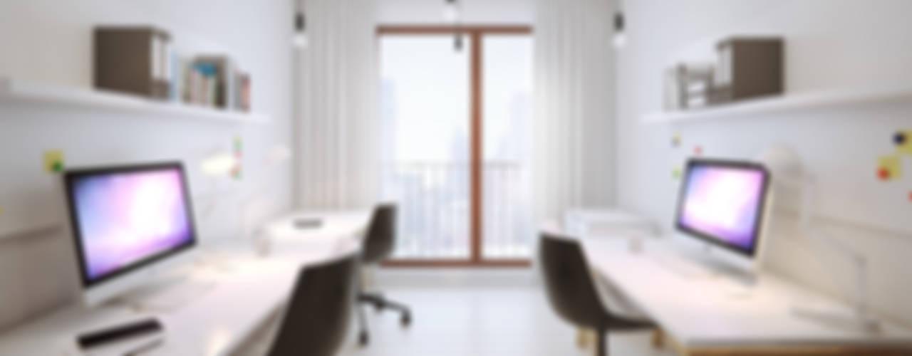 wilga apartment Minimalistyczne domowe biuro i gabinet od OFD architects Minimalistyczny
