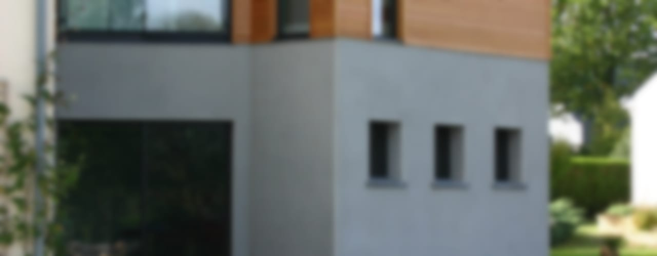 DE BOIS ET DE BETON... Maisons modernes par a2 ARCHITECTURE Moderne