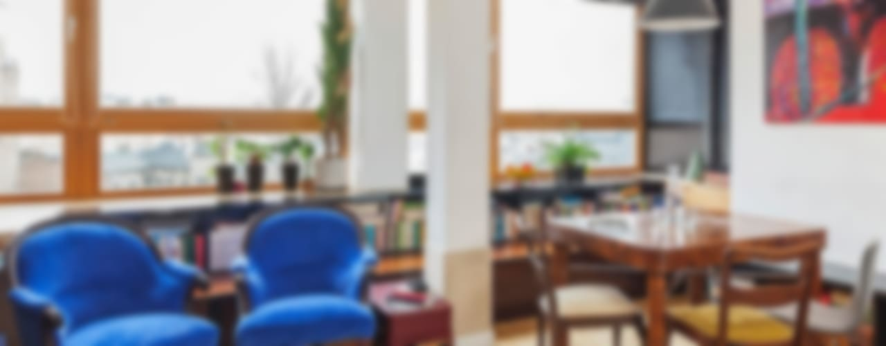 New Fifties: styl , w kategorii Salon zaprojektowany przez kacper gronkiewicz architekt