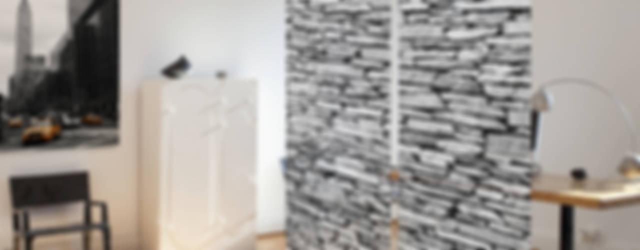 Design Schiebegardinen | Schiebevorhänge | textile Raumtrenner von Bilderwelten Rustikal