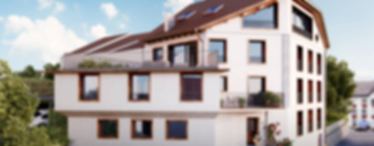 Projekty,  Domy zaprojektowane przez von Mann Architektur GmbH, Rustykalny