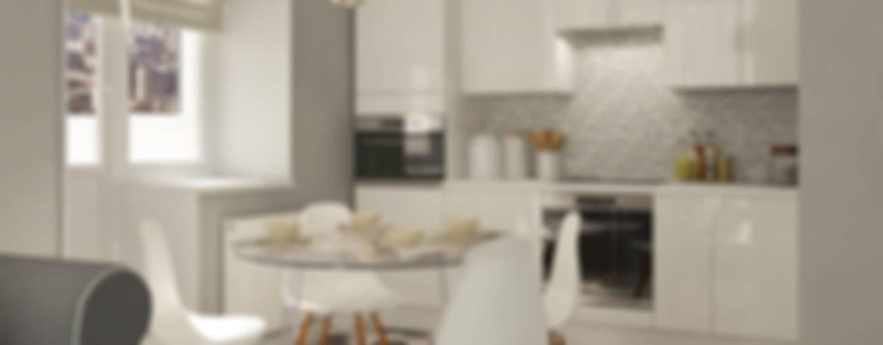Нюансы белого: Кухни в . Автор – CO:interior,