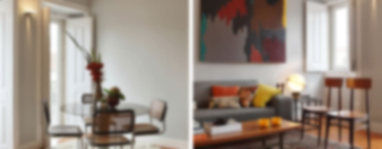Eclectic style living room by Tiago Patricio Rodrigues, Arquitectura e Interiores Eclectic