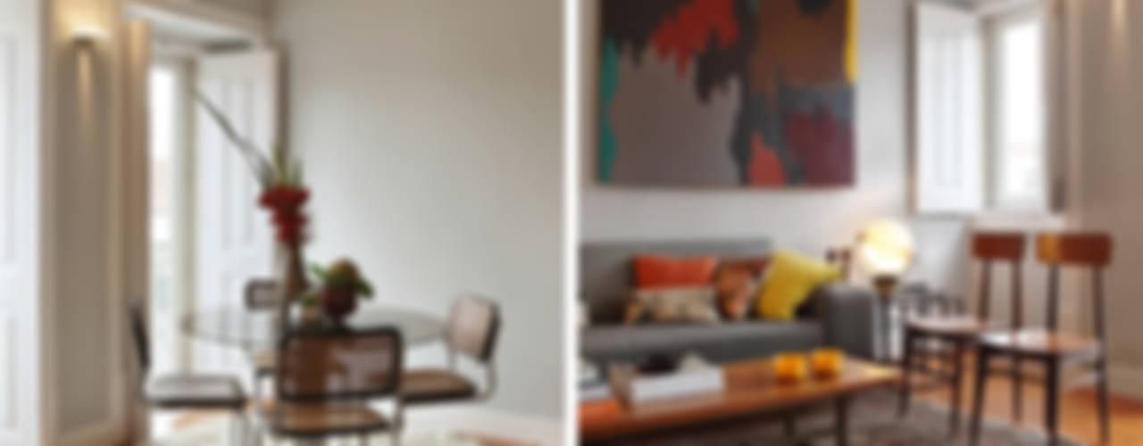 Salas de estilo ecléctico de Tiago Patricio Rodrigues, Arquitectura e Interiores Ecléctico