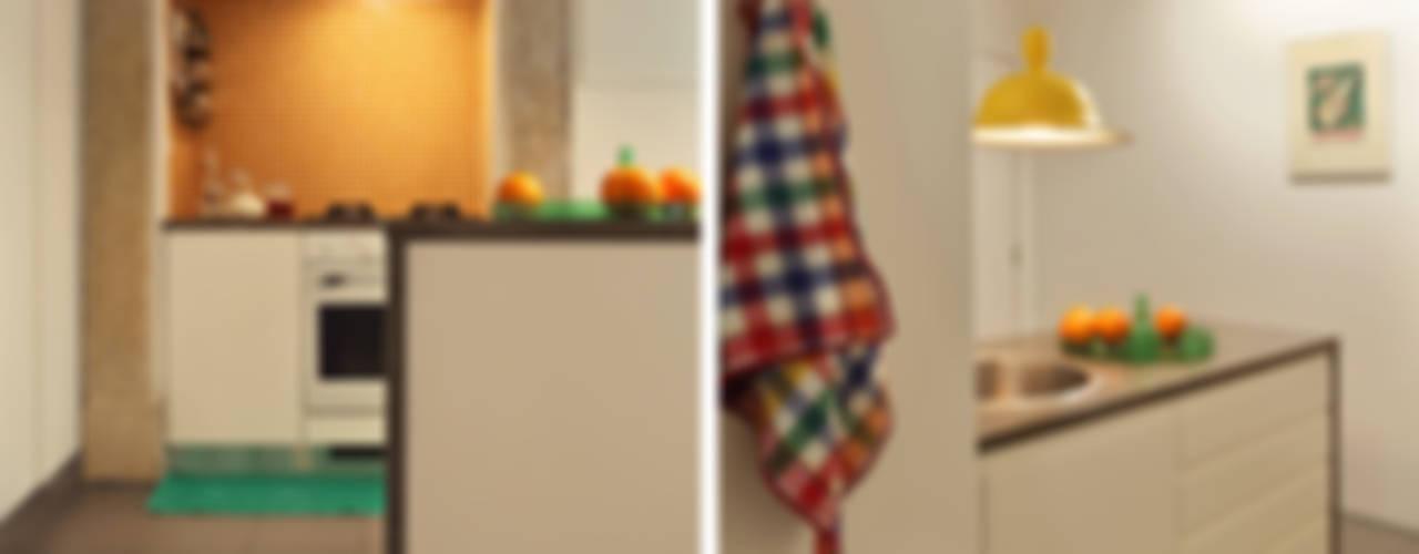 Apartamento A3_Reabilitação Arquitectura + Design Interiores: Cozinhas  por Tiago Patricio Rodrigues, Arquitectura e Interiores,