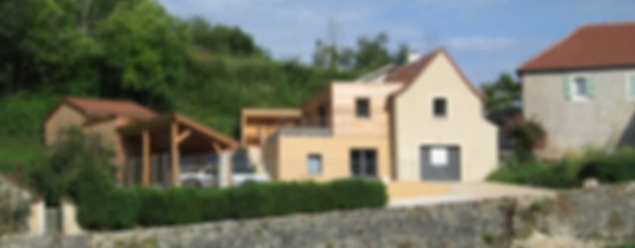 Extension et transformation d'une grange en logement à Labastide du Vert (46) LIARSOU et CONSTANT architectes DPLG Maisons modernes