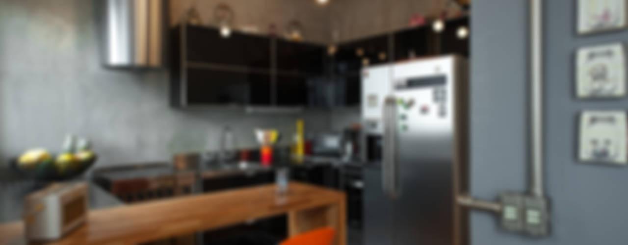 PM Arquitetura Кухня в стиле лофт