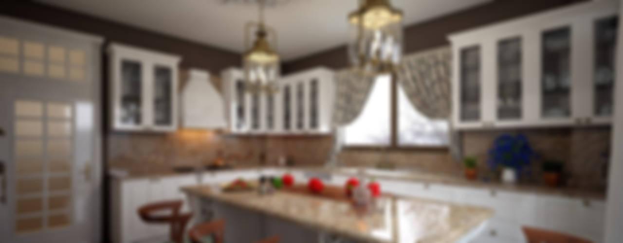 Dapur Gaya Rustic Oleh erenyan mimarlık proje&tasarım Rustic