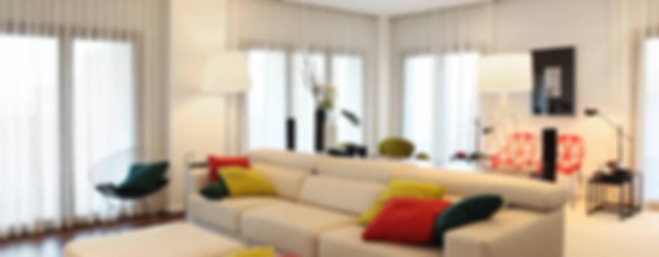 Apartamento Expo_Design Interiores Salas de estar modernas por Tiago Patricio Rodrigues, Arquitectura e Interiores Moderno