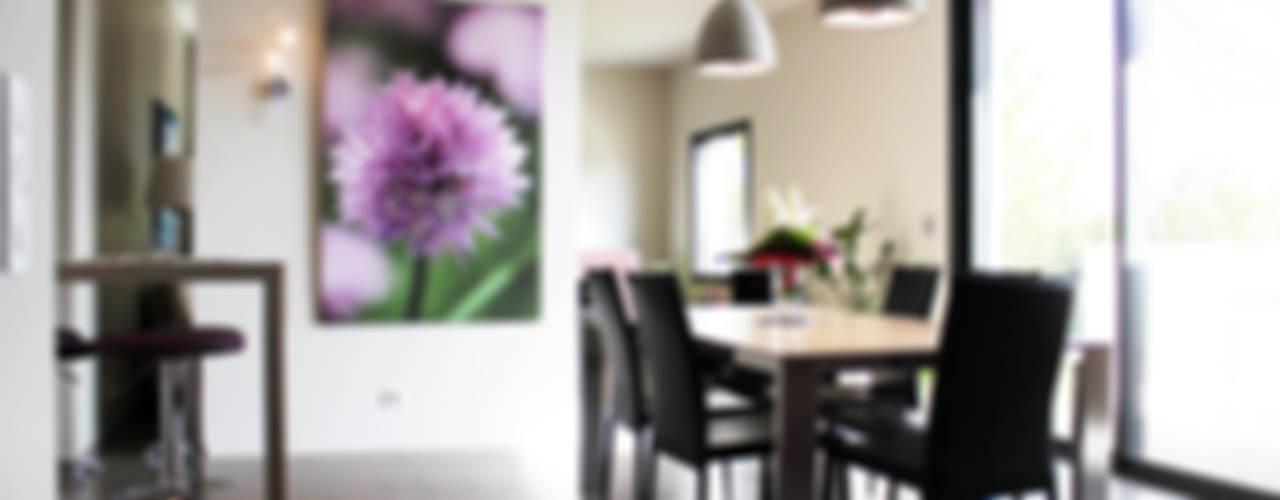 Maison individuelle - Région toulousaine Salle à manger moderne par Atelier d'architecture Pilon & Georges Moderne