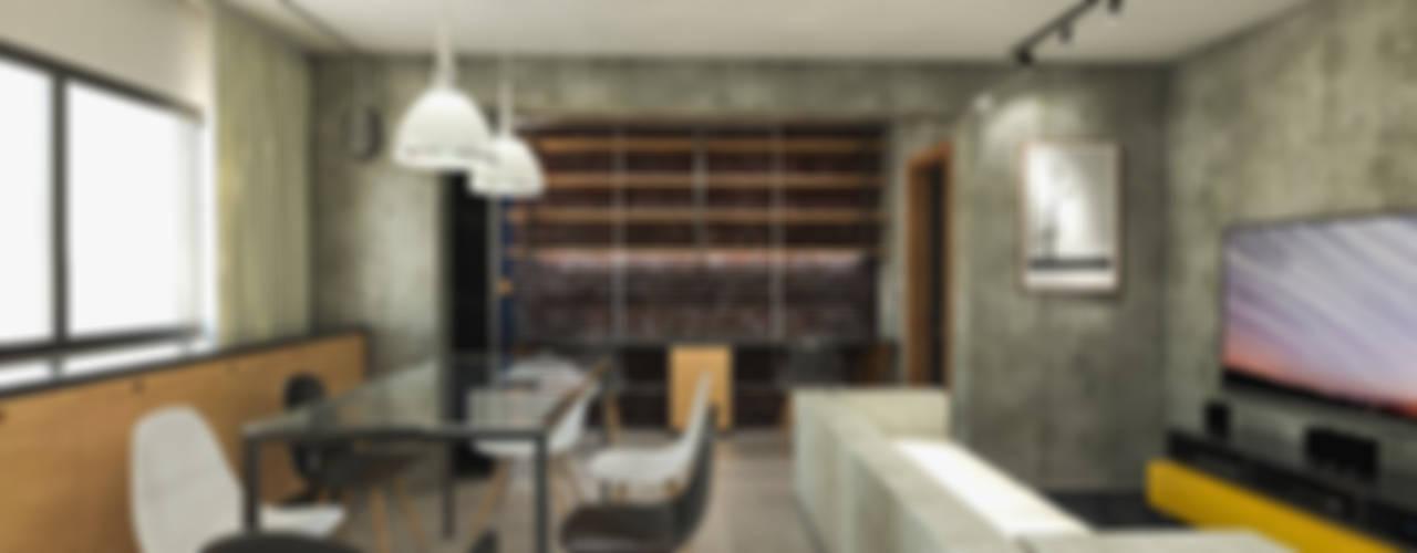 Apartamento IM Salas de estar industriais por 285 arquitetura e urbanismo Industrial