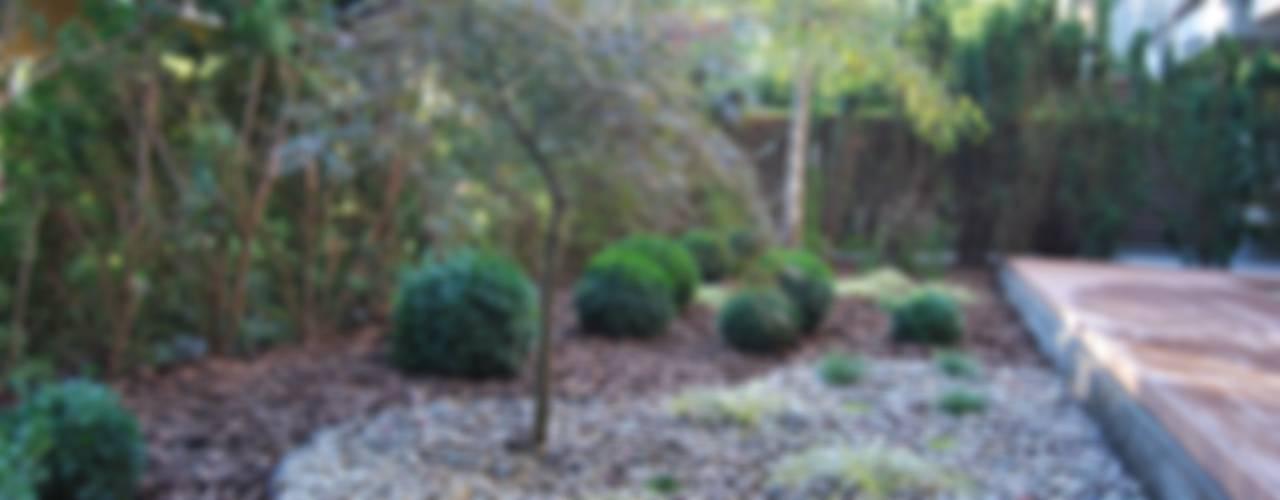 Ogród minimalistyczny ze strefą do medytacji Minimalistyczny ogród od Ogrody Przyszłości Minimalistyczny
