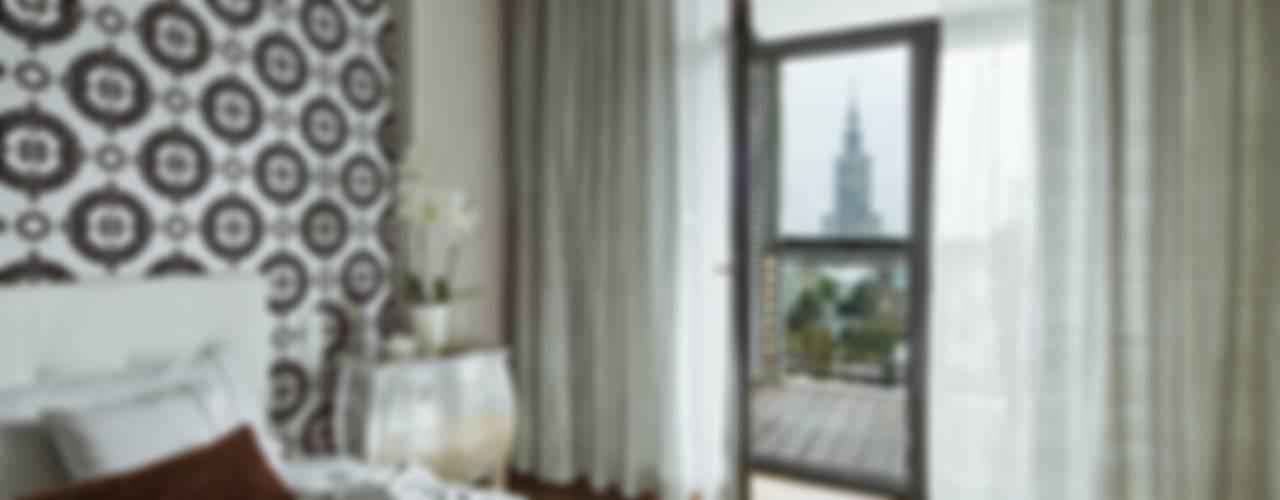 Apartament Grzybowska: styl , w kategorii Sypialnia zaprojektowany przez living box,Eklektyczny