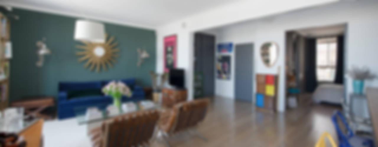 Appartement Caulaincourt Paris Salon original par Hélène de Tassigny Éclectique
