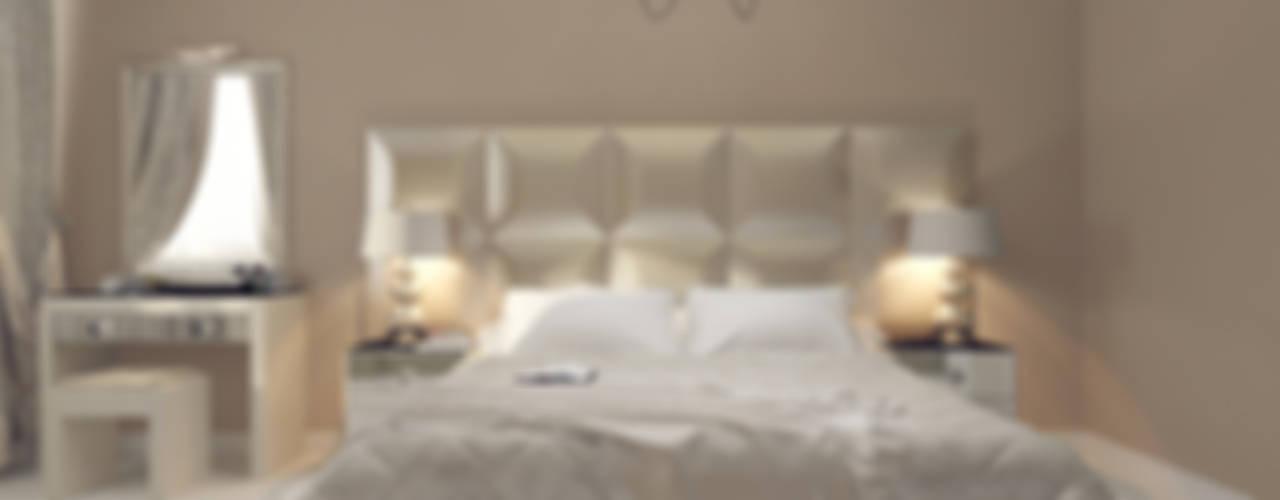 Лаконичный интерьер. Спальня в эклектичном стиле от Tutto design Эклектичный