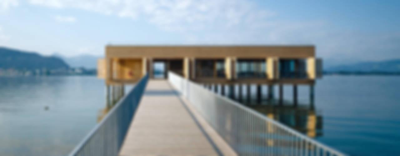 Badehaus am Kaiserstrand, Lochau-Bregenz Moderne Gastronomie von Lang + Schwärzler Architekturbüro Modern