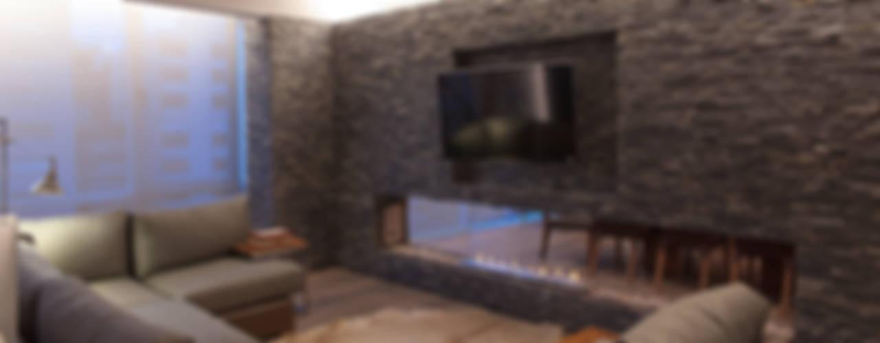 غرفة المعيشة تنفيذ kababie arquitectos , حداثي