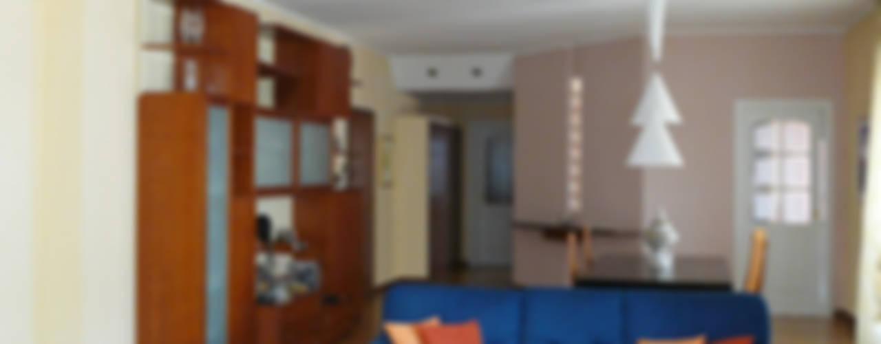 Ristrutturazione appartamento con terrazza a Milano Soggiorno moderno di Interni d' Architettura Moderno