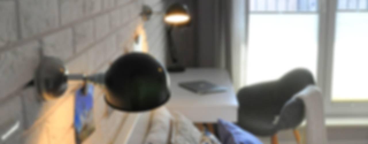 NADWIŚLAŃSKA 11 | KRAKÓW: styl , w kategorii Sypialnia zaprojektowany przez NIESKROMNE PROGI,Skandynawski
