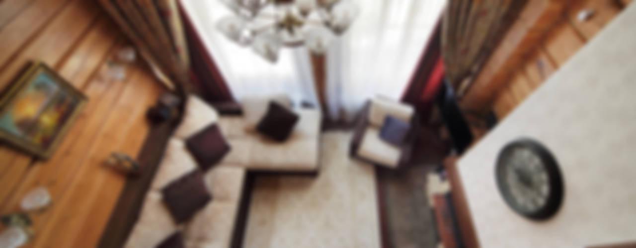 Коттедж в Сысерти Гостиная в рустикальном стиле от Ирина Шаманова Рустикальный