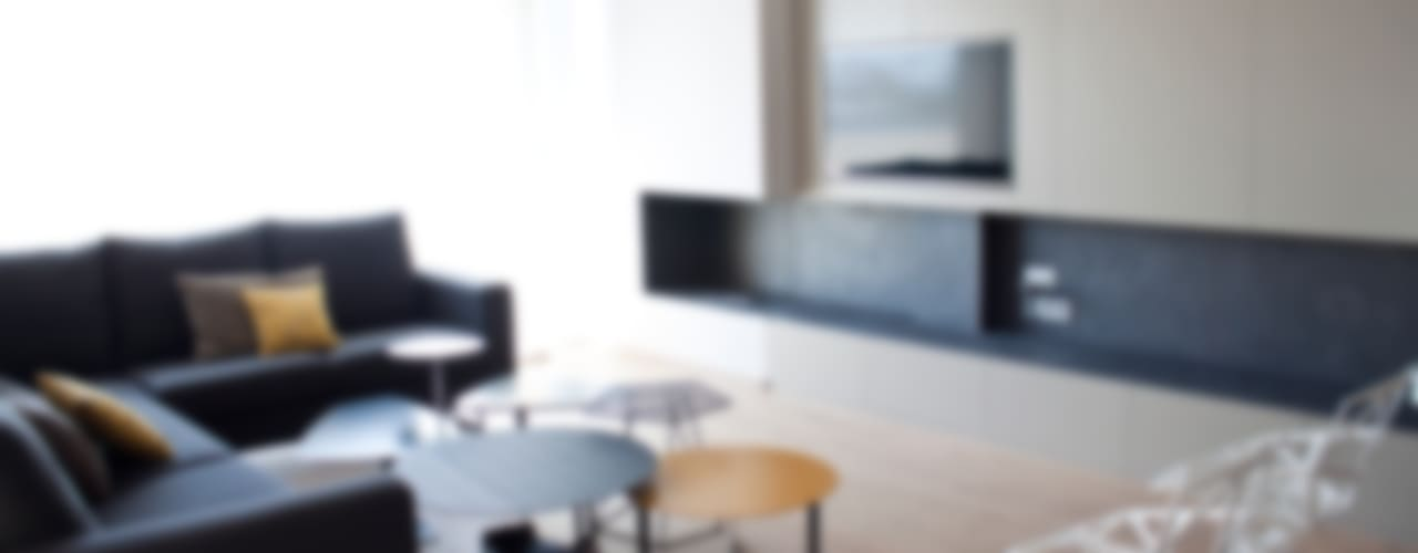 Vivienda Unifamiliar Salones de estilo moderno de estudio RILAIN Moderno