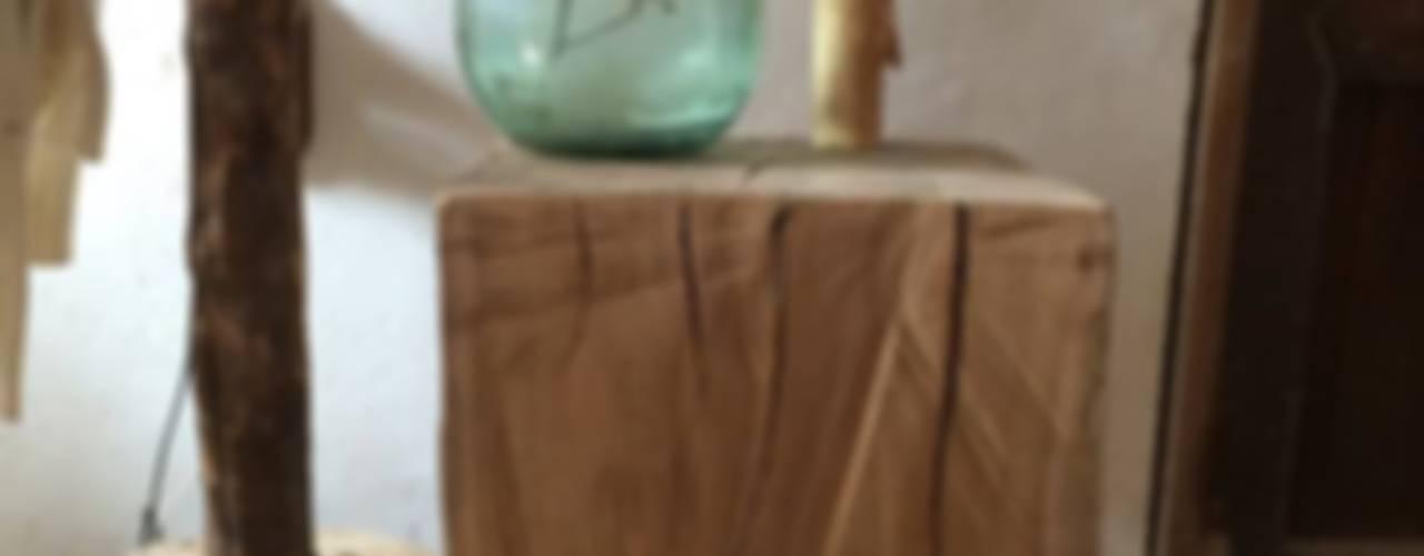 Mesa eucalipto de Con Alma Design Rústico