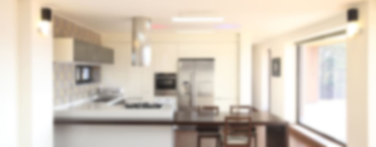 강변조망에 최적화된 디자인, 양평 회현리 주택: 주택설계전문 디자인그룹 홈스타일토토의  주방,모던