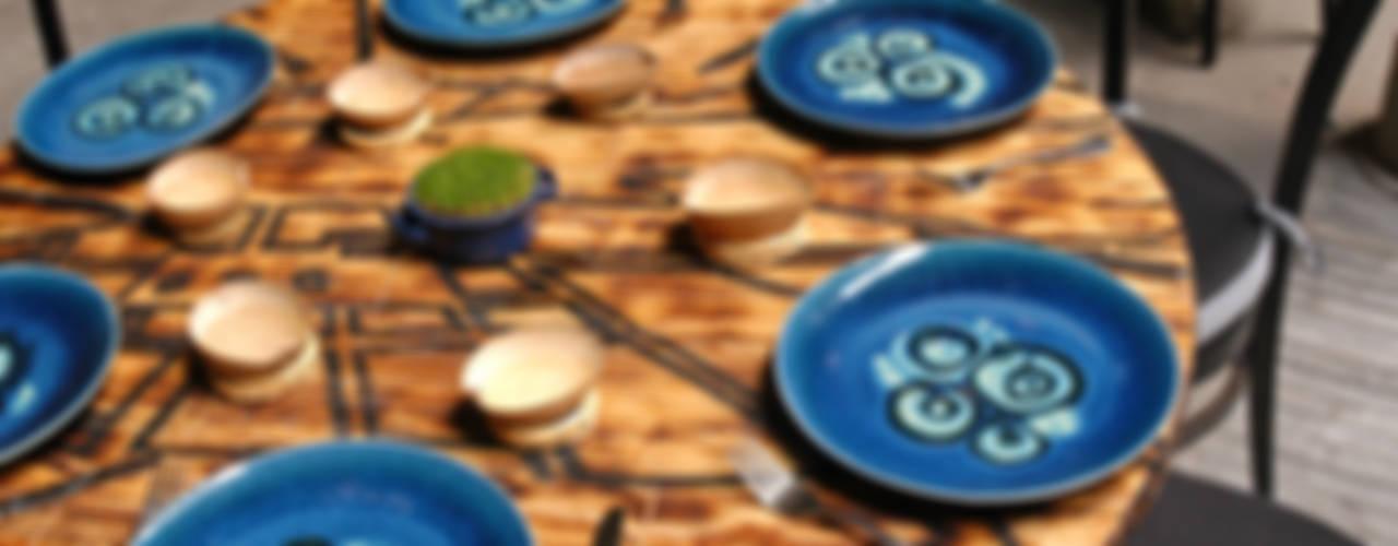 Restaurante Azul Histórico de kababie arquitectos Ecléctico