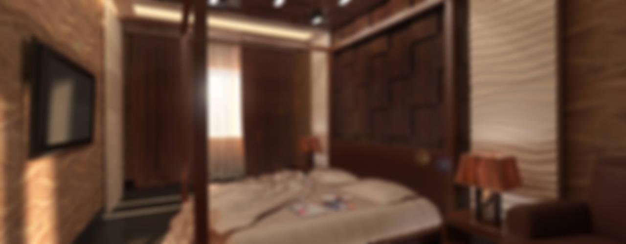 Интерьер квартиры 86м2. Сургут.: Спальни в . Автор – Tutto design