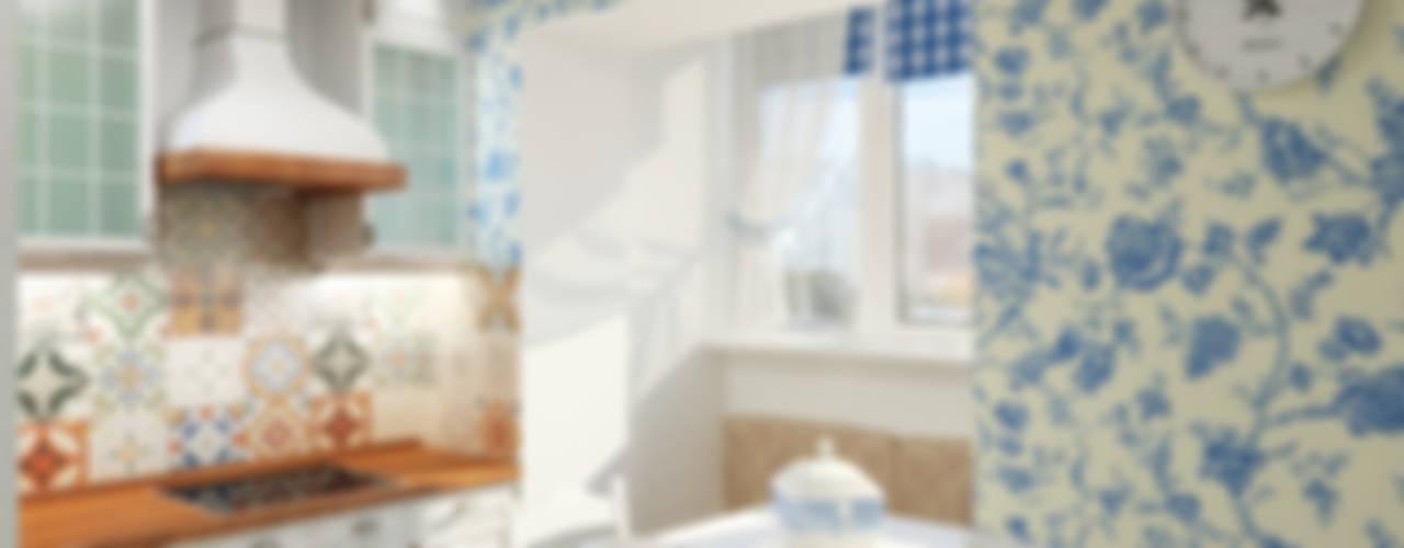 에클레틱 주방 by Дизайн студия Александра Скирды ВЕРСАЛЬПРОЕКТ 에클레틱 (Eclectic)