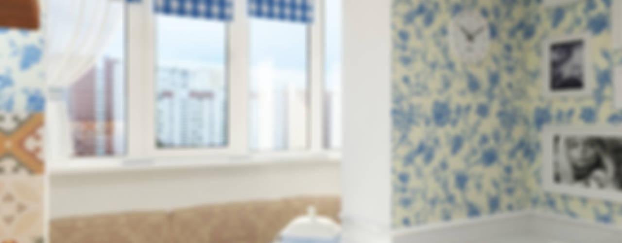 Московский прованс Кухни в эклектичном стиле от Дизайн студия Александра Скирды ВЕРСАЛЬПРОЕКТ Эклектичный