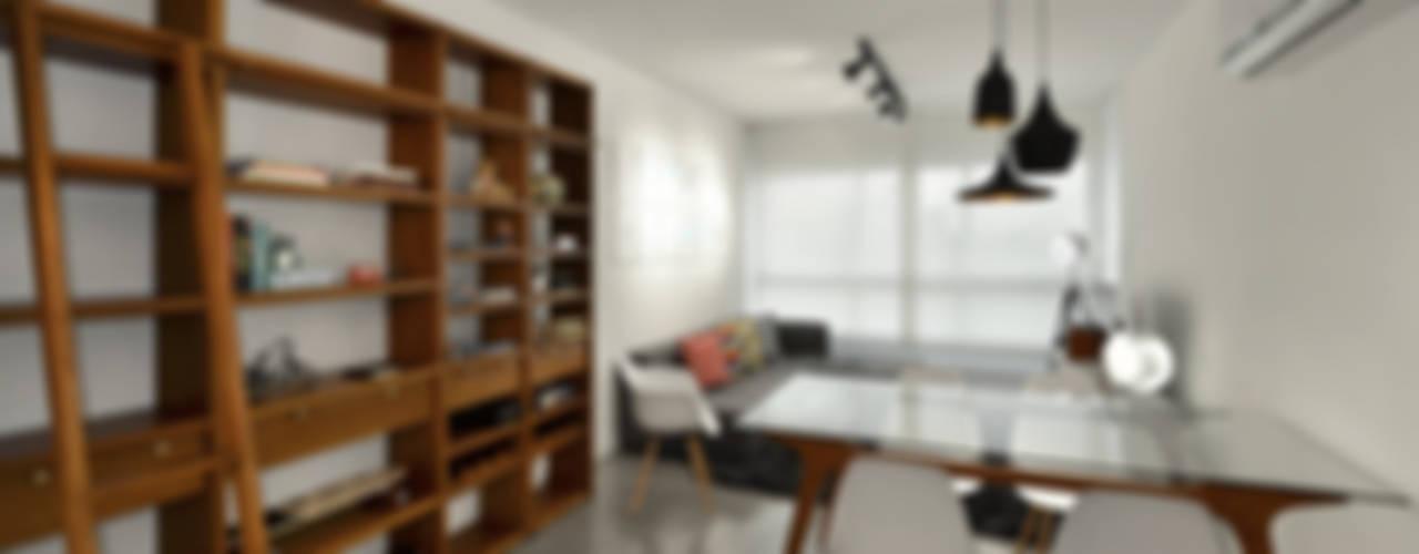 Apartamento Publicitária Salas de jantar modernas por Johnny Thomsen Arquitetura e Design Moderno