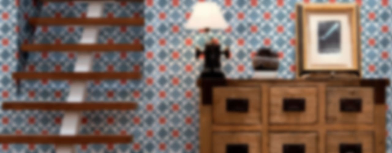 Tiles 'Digitally Printed' Wallpaper Collection by Paper Moon Рустiк