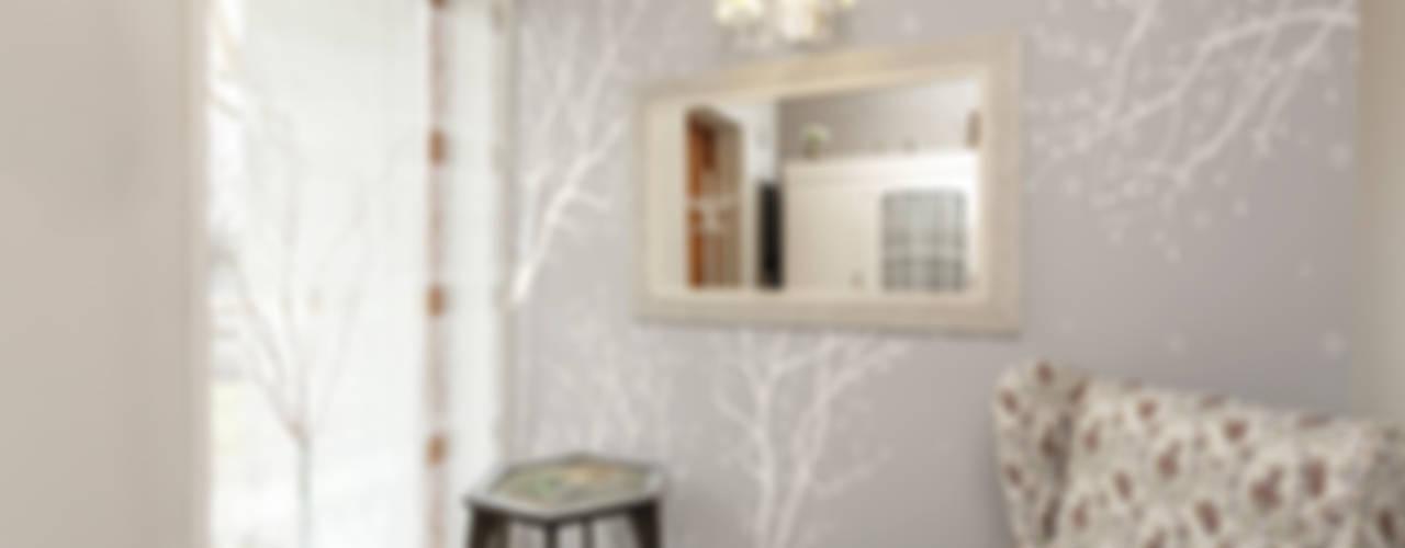 수수한 아름다움을 갖고 있는 나무를 활용한 벽지들 : angelkk의 현대 ,모던