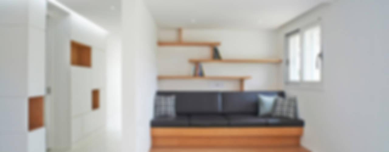 G House NEN Salas de estar minimalistas