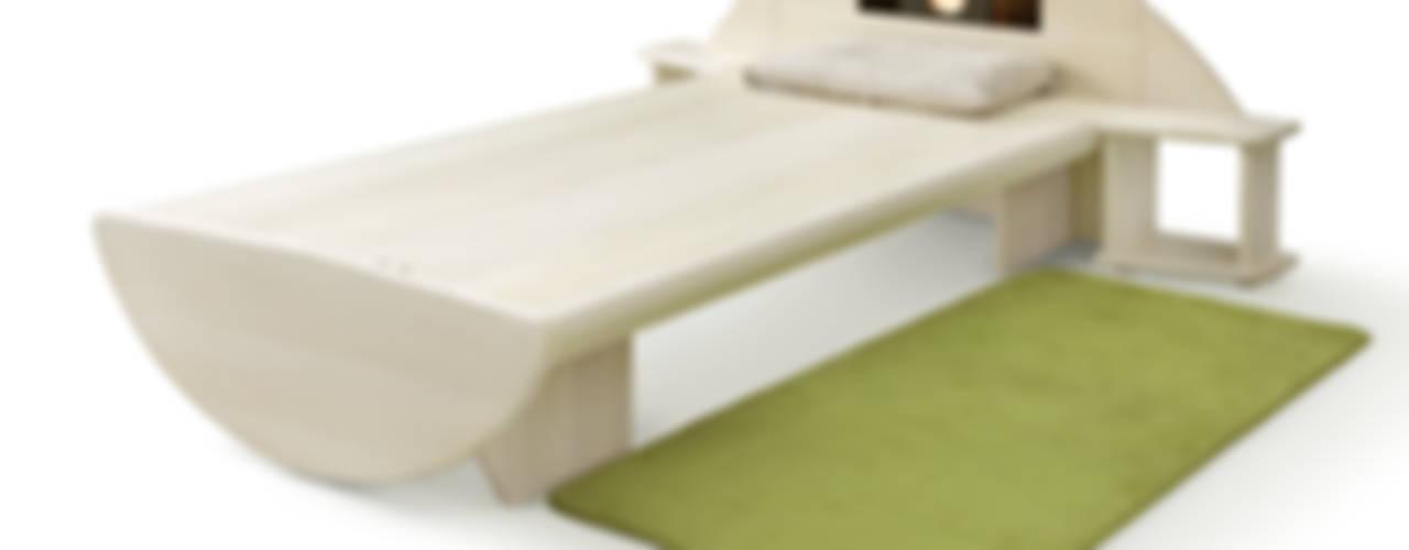 桐のベッド一目惚れ: 桐里工房が手掛けた現代のです。,モダン