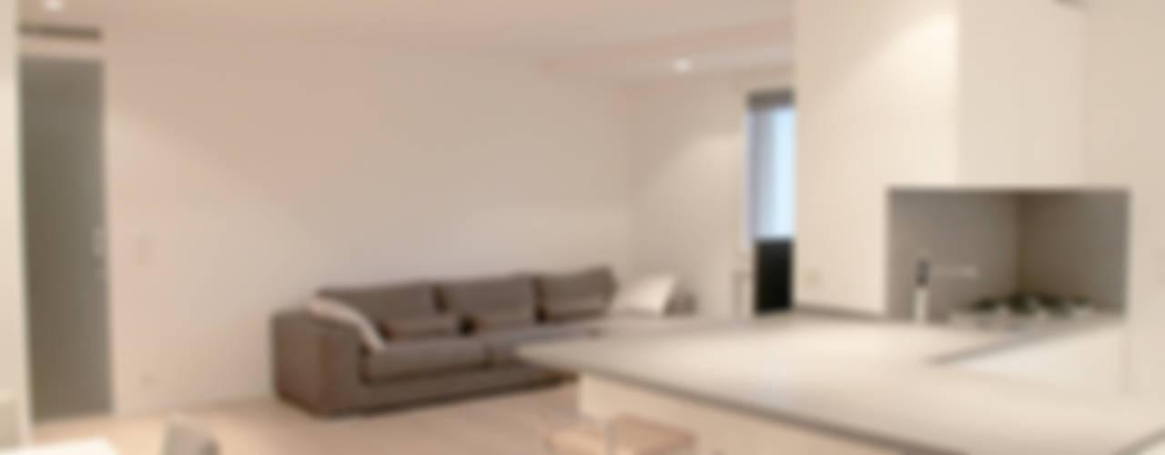 Casa MR Soggiorno minimalista di Davide Ceron Architetto Minimalista