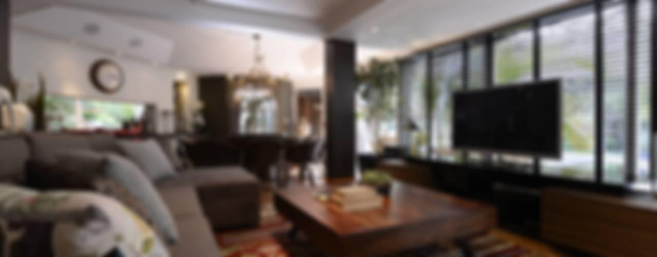 CASUAL CHIC Salas de estar rústicas por Dalton Vidotti Arquitetura Rústico