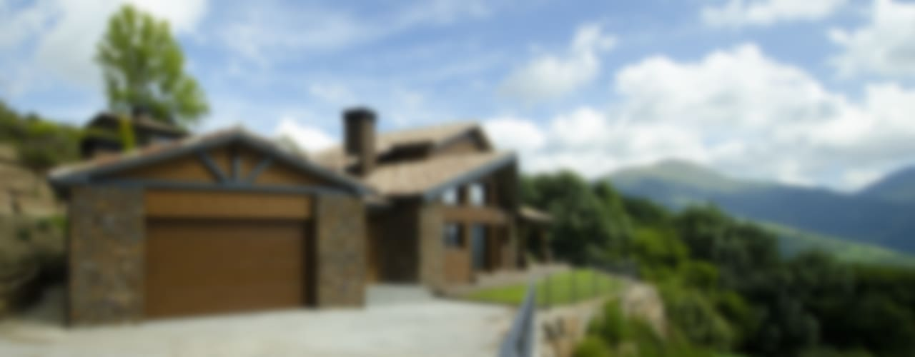 Casa Rústica en el Pirineo catalán Casas de estilo rústico de Canexel Rústico