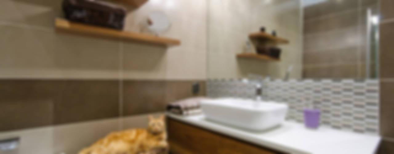 Mieszkanie na Mokotowie Nowoczesna łazienka od ZAWICKA-ID Projektowanie wnętrz Nowoczesny