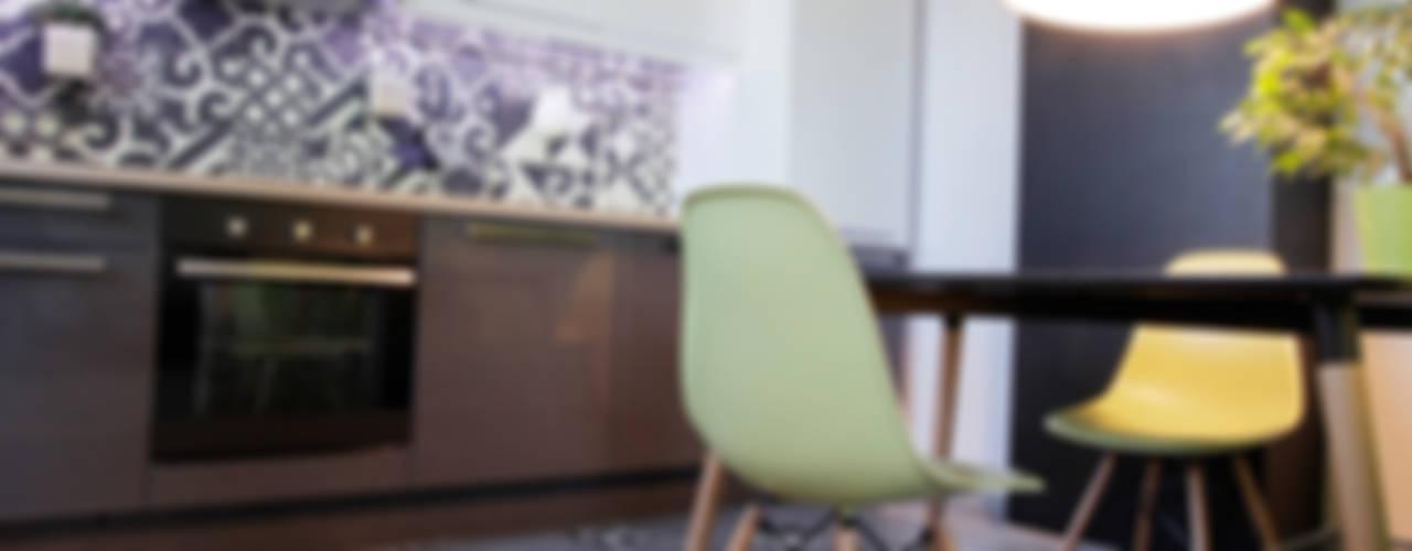 Функциональная студия из типовой однушки ИП-46с для молодой пары Кухня в скандинавском стиле от Space for life Скандинавский