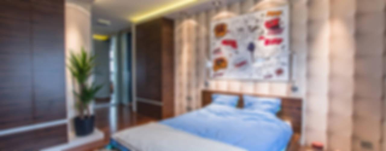 Modern Flat 69m2: styl , w kategorii Sypialnia zaprojektowany przez TiM Grey Interior Design,Nowoczesny