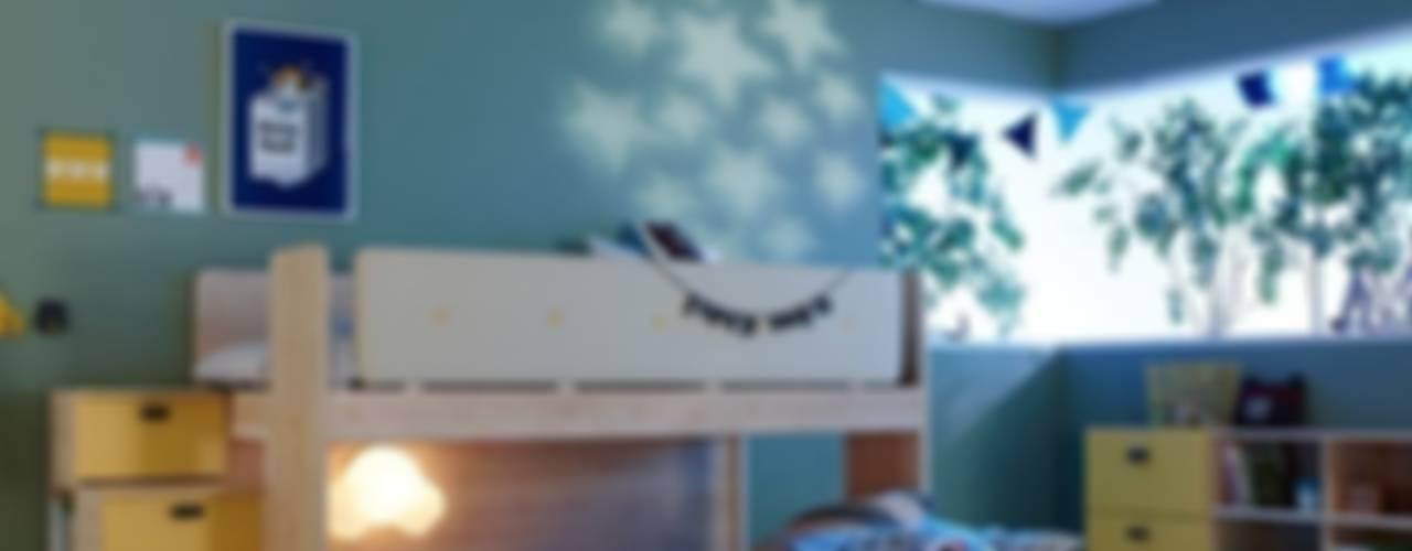 モダンスタイルの寝室 の jumine モダン