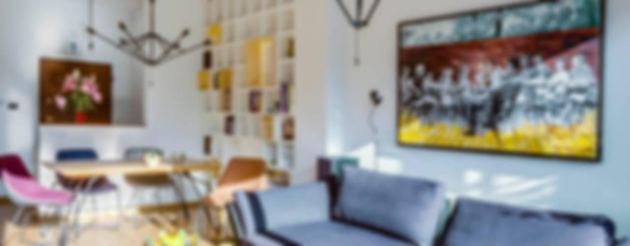 Apartament w Libertowie pod Krakowem: styl , w kategorii Salon zaprojektowany przez Biuro Projektowe Pióro,Minimalistyczny