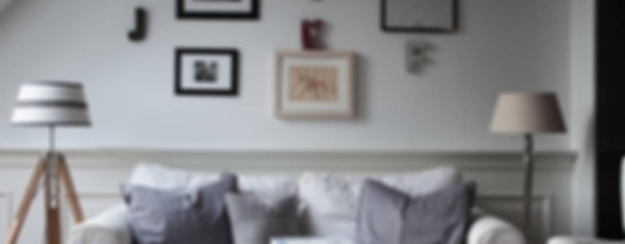 Apartament na Kabatach Skandynawski salon od Studio Inaczej Skandynawski