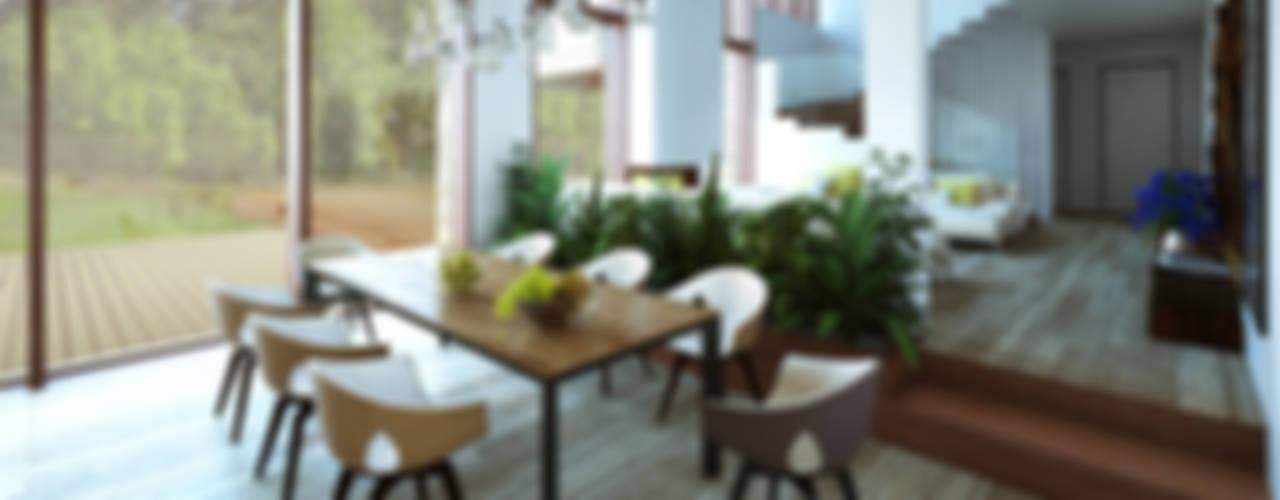 Дом в Зеленогорске Столовая комната в скандинавском стиле от ALEXANDER ZHIDKOV ARCHITECT Скандинавский